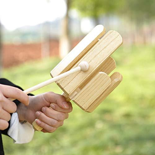 NA Musikinstrument-Zubehör, Musikinstrument, 8 Töne, mehrfarbige Röhre, Percussion, Holzspielzeug, mehrfarbig, mehrfarbig, für Kinder