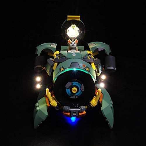 Yavso USB Lichtset Led Beleuchtungsset für Lego 75976 Wrecking Ball Overwatch Beleuchtung (Lego Modell Nicht Enthalten )
