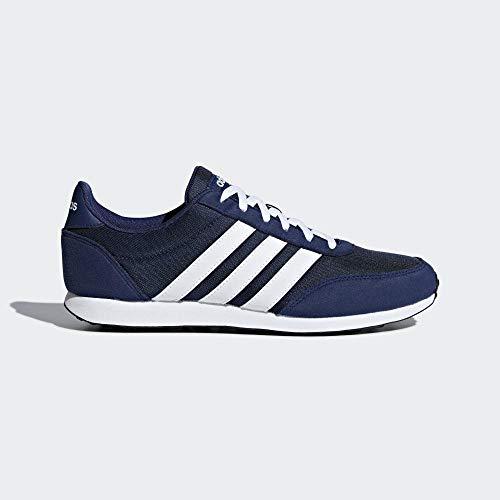 adidas V Racer 2.0, Zapatillas de Running para Hombre, Azul (Dark Blue/FTWR White/FTWR White Dark Blue/FTWR White/FTWR White), 42 2/3 EU