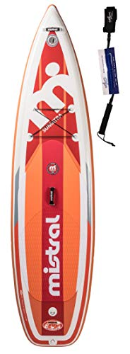 Mistral Sumatra 10'6 Tripe-Line, Superlight Woven-Fusion Layer Technology, Standup Paddel Board, SUP Gonfiabile con SUPwave.de Coil-Leash Stand up Paddle Board iSUP