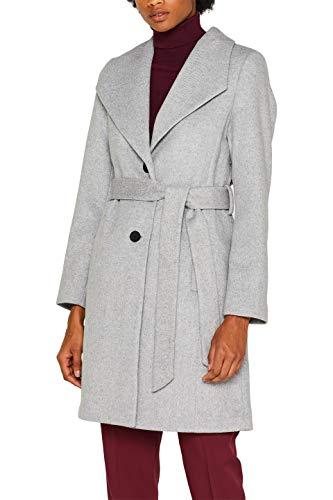 ESPRIT Collection Damen 089EO1G025 Mantel, 044/LIGHT Grey 5, XXL