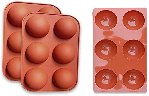 GSHWJS 3 Paquetes Mini Semi Sphery Molde de Silicona, Maldito Silicona Moldes para Hornear para fabricar Chocolate, Pastel, Jalea, Mousse de cúpula Molde de Silicona