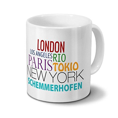 Städtetasse Schemmerhofen - Design Famous Cities of the World - Stadt-Tasse, Kaffeebecher, City-Mug, Becher,...
