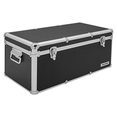 Aluminium-Rahmenkoffer Transport-Box, Koffer in Schwarz mit 54 Liter Volumen