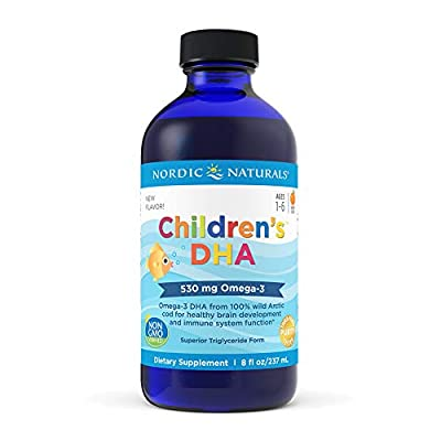 Nordic Naturals Children's DHA Liquid - Omega-3 DHA Fish Oil Supplement for Kids, Supports Heart Health and Brain Development for Children During Critical Years