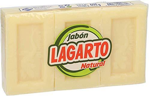 LAGARTO jabón pastilla natural pack 3 x 200 gr