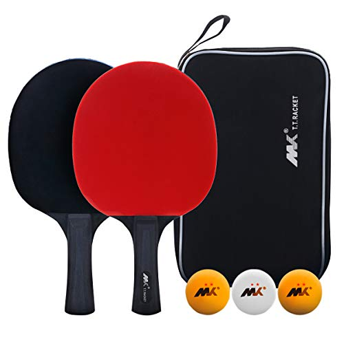 Buy SHXH Table Tennis Racket,Ping Pong Paddle Set with 2 Bats and 3 Ping Pong Balls,Training Racquet...