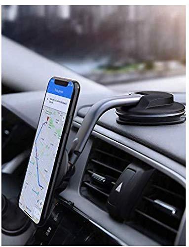 AUKEY Handyhalterung Auto ArmaturenbrettMagnetische360-Grad-Drehung KFZ Handy Halterung Kompatibel mit iPhone 11 Pro Max/11/XS Max, Samsung Galaxy S10+, Google Pixel 3 XL und weiteren Smartphones