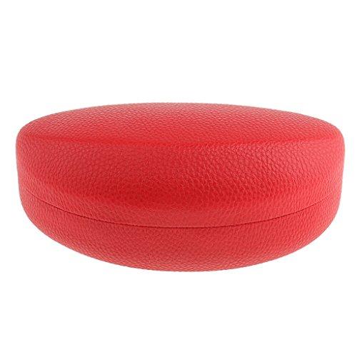 SDENSHI Gafas de Sol de Metal Duraderas Estuche Rígido de Anteojos Gafas Protector de Gafas - Rojo