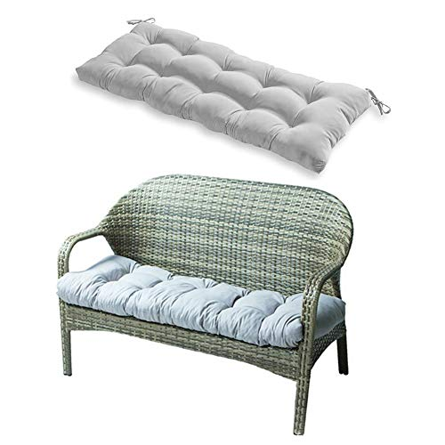 """Indoor/Outdoor Bench Cushion, Swing Cushion, 51.2""""x19.7"""", for Lounger Garden Furniture Patio Lounger Bench (Gray)"""