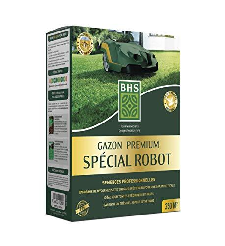 BHS GPSR5   5Kg   250 m²   Gazon Premium Spécial Robot   100 % semences enrobées   Extrême finesse   Résistante aux tontes rases et fréquentes  