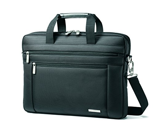Samsonite Classic Laptop Slim Briefcase, Black, 16 x 2 x 12-Inch