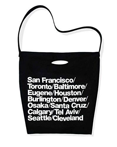 American Apparel Cities Print Denim Oversized Tote (Black/White)