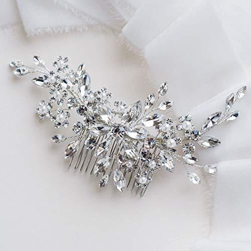 Unicra mariée mariage peigne à cheveux cristal accessoires de cheveux strass pièces de cheveux de mariée pour les femmes