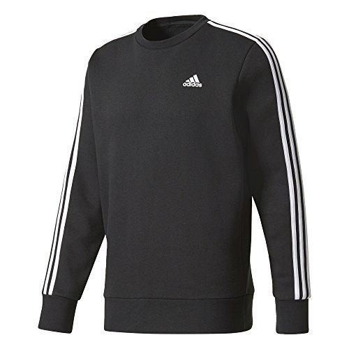 adidas Sweat-Shirt Essentials 3 Stripes Crew B pour Homme XS Noir/Blanc