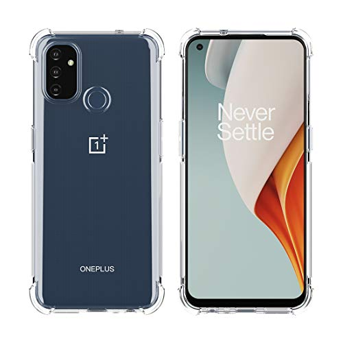 Feitenn Oneplus Nord N100 5G Case, Soft Clear Slim Cover Transparent Crystal Flexible TPU Case Reinforced Corners Ultra Hybrid Thin Shell Lightweight Shockproof Bumper Skin for Oneplus Nord N100 5G