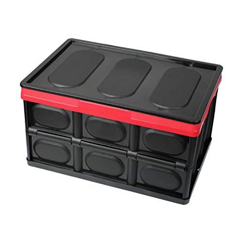 Garneck Car Boot Storage Box Multi Compartments Trunk Organizer Cargo Storage Basket for Automotive Vehicle (Small Black)