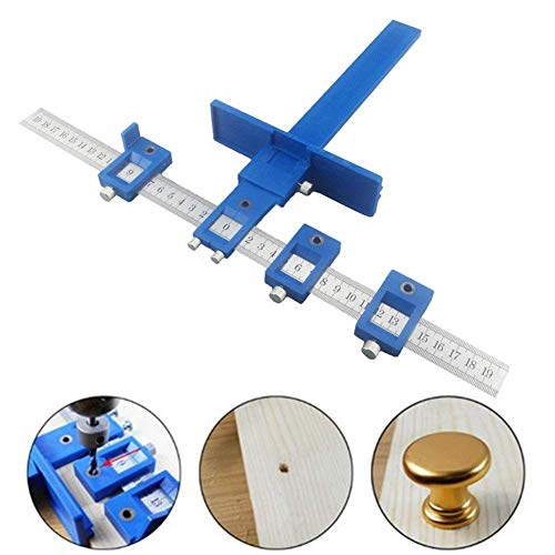 Giftprod Power Tools Punch Locator,hardware fixture,Drill Guide Sleeve Cabinet Hardware Jig Template Measuring Woodworking Tool for Handles, Knobs on Doors and Drawer Pull (Style 1)