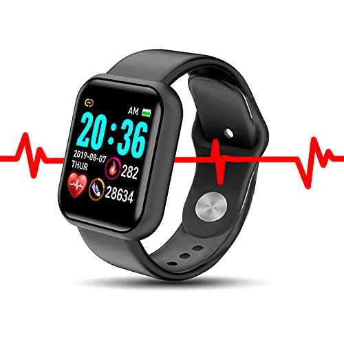 Orologio Fitness, Orologio Smartwatch Donna Uomo, Orologio Contapassi, Cardiofrequenzimetro Da Polso per Android iOS