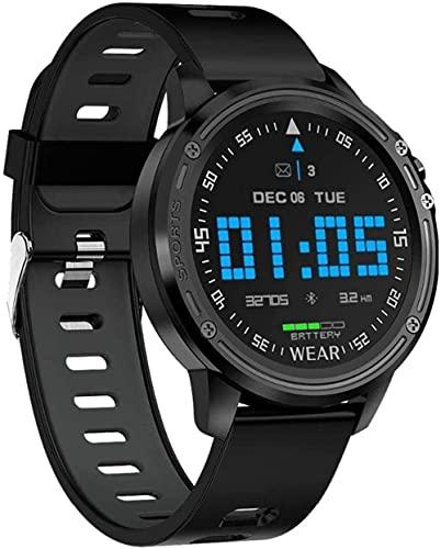 para OPPO RENO2 Z F Reno 2 R17 Neo R15 Pro AX7 F9 A71 A7X A73S Reloj Inteligente Hombres Presión Arterial Ratio cardíaco Deportes Relojes de Fitness-Green-Negro