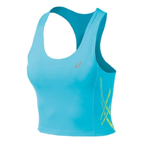 ASICS Damen Speed Bra, Damen, Aquarium/Blazing Yellow, X-Small