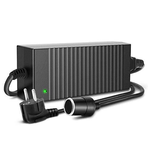 Trehai 120W 12V 10A Alimentation Électronique AC à DC Adaptateur, 100-220V/230/240V AC Prise d'Allume-cigare de Voiture à 12V DC Électricité Transformateur...