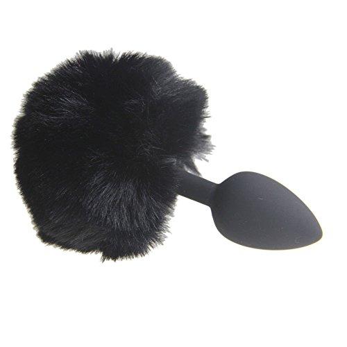 BONDAGERIE® Pompon Nero con plùg in silicone, varie misure