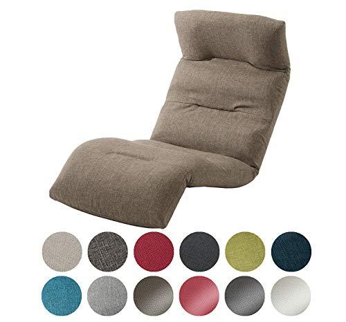 セルタン 日本製 高反発 座椅子 和楽の雲 下タイプ ダリアンブラウン 頭部脚部リクライニング A193下R-561BR