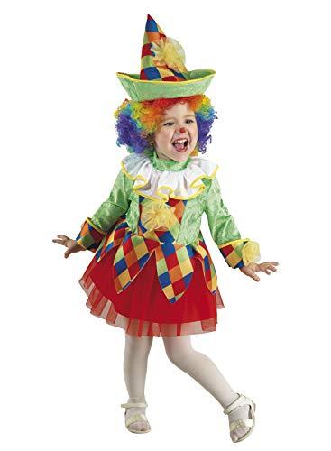 Clown Republic Arlequin - Disfraz para niña 16904/04, color blanco