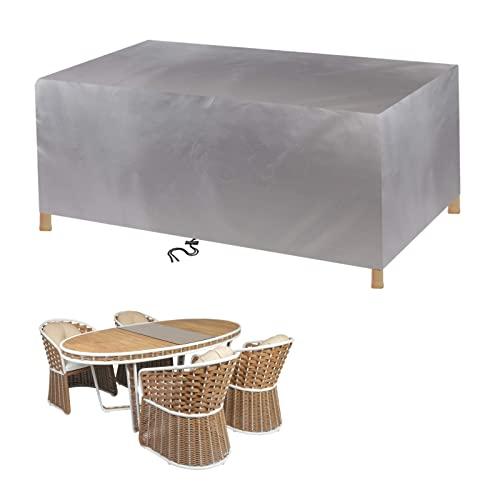 Copertura per mobili da giardino, 60 x 60 x 60 cm, in rattan, per mobili da giardino, 420 D, rettangolare, quadrato, per patio, impermeabile, anti-UV