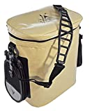 Seattle Sports FrostPak Slinger Arctic Double Wall Insulated Soft-Sided Cooler 33qt with Removable Water Bottle Holder and Travel Pouch