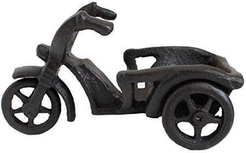COOLSHOPY Gabinetes de vino modelo europeo habitación de hierro manualidades decoración de tres ruedas motocicleta botella bodega decoración decoraciones