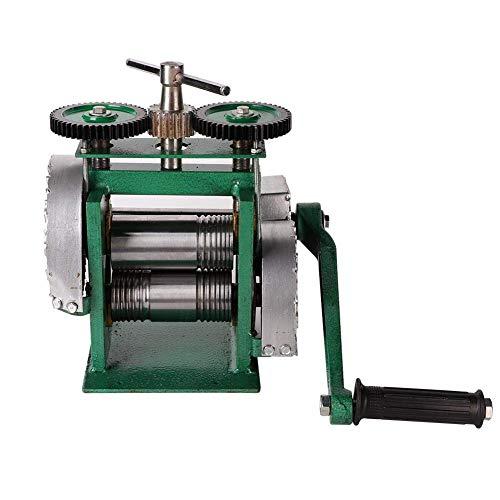 Máquina de Laminación Manual, 85mm Ancho 55mm Diámetro Combinación Joyería Laminador Máquina Fabricación Tabletas Alambre de Rodillo Patrón Plano Hoja de Metal Marcado Joyería Herramienta de Bricolaje