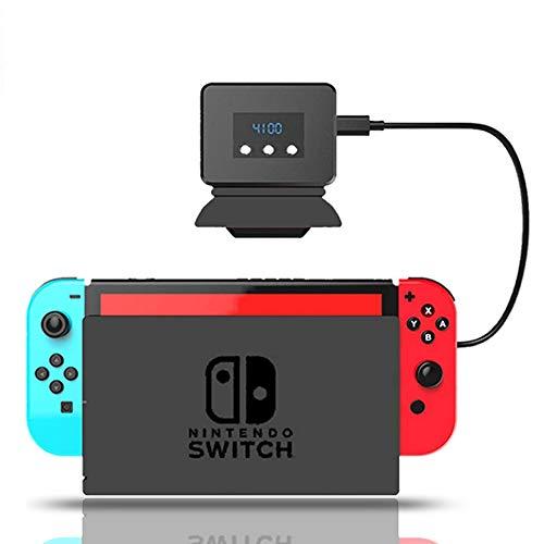 Switch対応 冷却ファン ハイパワー 冷却 クーラー Nintendo Switch 用 冷感 扇風機 夏用 排熱 温度表示 風量変更 スイッチドック 静音