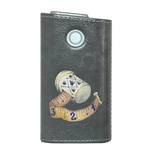 glo グロー グロウ 専用 レザーケース レザーカバー タバコ ケース カバー 合皮 ハードケース カバー 収納 デザイン 革 皮 GRAY グレー 裁縫 道具 014164