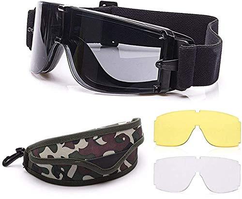 Gafas tácticas de airsoft gafas de seguridad militares gafas de protección de los ojos gafas de caza para tiro militar X800 gafas airsoft paintball UV400