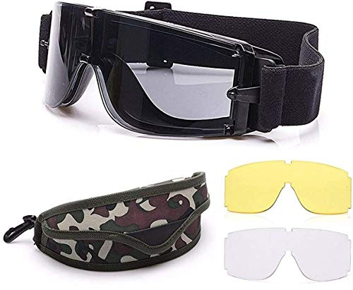 Taktische Airsoft-Brille Schutzbrille Armee Schutzbrille Militär Augenschutz Jagdbrille für Schießen Militär X800 Schutzbrille Airsoft Paintball UV400 Brille