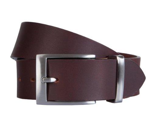 LINDENMANN Gürtel Herrengürtel Ledergürtel Büffelleder Braun 1080, Farbe:Braun, Länge:110 cm