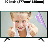 DPPAN 40インチアンチブルーライト 液晶保護フィルムテレビモニター用、スーパークリア LED 反射防止 保護フィルム、スクリーンセーバー 目を守る アンチスクラッチ,A