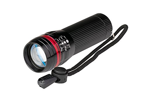 Poly Pool PP3153 Torcia LED 3 W ALU MINI Portatile Tascabile Luminosità 80 Lumen IP44 Con Fuoco Regolabile 3 Modalità di Illuminazione