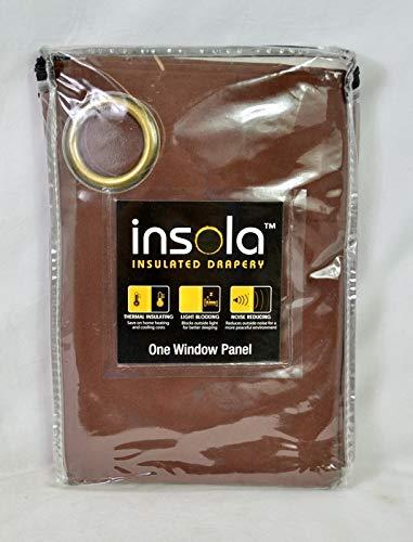 "Liberty Insola Mandalay One Windows 84"" Curtain Panel in Chocolate"