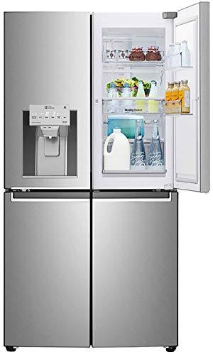 LG 889 L Inverter Linear Door-in-Door Side by Side Refrigerator (GR-J31FTUHL, Saffiano, Multi Air Flow Cooling)