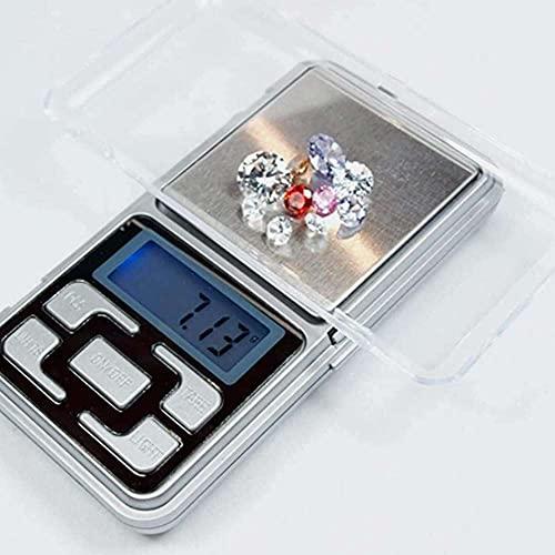 zhaita Básculas digitales de hierbas joyería cocina oro pesaje mini LCD electrónico 0.1g 500g – Medidas gramos, onzas, grano y quilates práctico