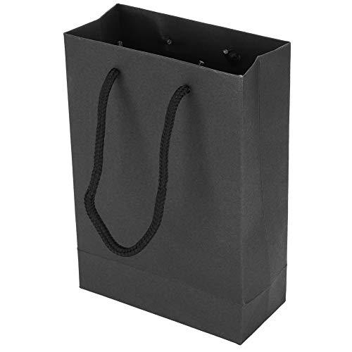 Papierverpackung Einkaufstasche, 10PCs, Weihnachtsgeschenktüte, Kordelzug Tragbare Kunsthandwerk Handtasche, wiederverwendbar, Verpackungswerkzeuge für Kleidung(Schwarz)