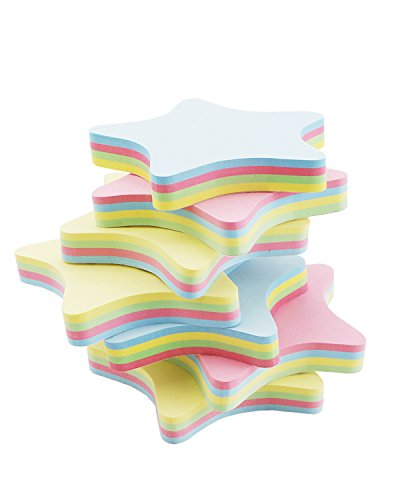 PRALB 20PACK Rainbow Star-Shaped Self Sticky Notes Self-Adhesive Sticky Note Cute Notepads 100 Sheets Per Pad.(20 Pack/Box, Star) Sticky Notes,Sticky Note Star,Cute Sticky Notes,Sticky Notepad,Star Photo #4