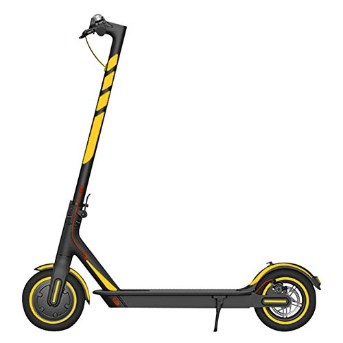 Pegatina reflectante para scooter, impermeable, PVC, para deportes y manualidades, advertencia nocturna, accesorios de protección para xiaomi M365 Pro (amarillo)