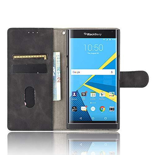 Dhongf Hülle für BlackBerry Priv Handyhülle zusammenklappen Stoßfest Kratzfest 360 R&umschutz Holster für BlackBerry Priv Hülle Schwarz