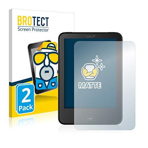 BROTECT 2X Entspiegelungs-Schutzfolie kompatibel mit Tolino Vision 4 HD Displayschutz-Folie Matt, Anti-Reflex, Anti-Fingerprint