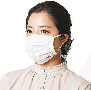 マスク 日本製 プリーツ イータック 公認 抗ウイルス 抗菌 洗えるマスク 50回洗濯可能 1枚入り (L)