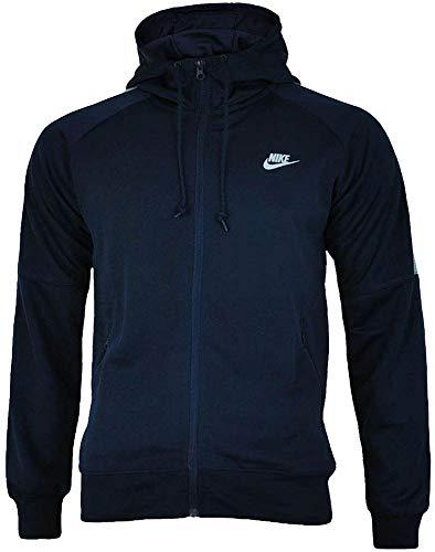 Nike Tribute Hooded Track Jacket Uomo Felpa con Cappuccio Navy/Grigio, Dimensione:L